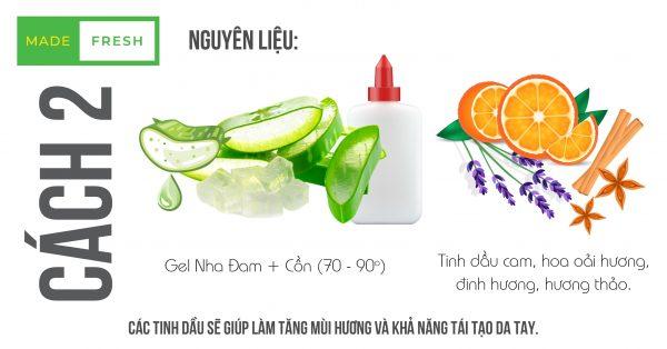 Các tinh dầu từ gel rửa tay khô giúp tăng khả năng diệt khuẩn