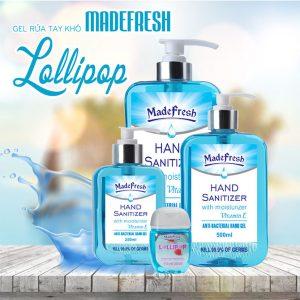 Gel rửa tay khô madefresh hương Lollipop