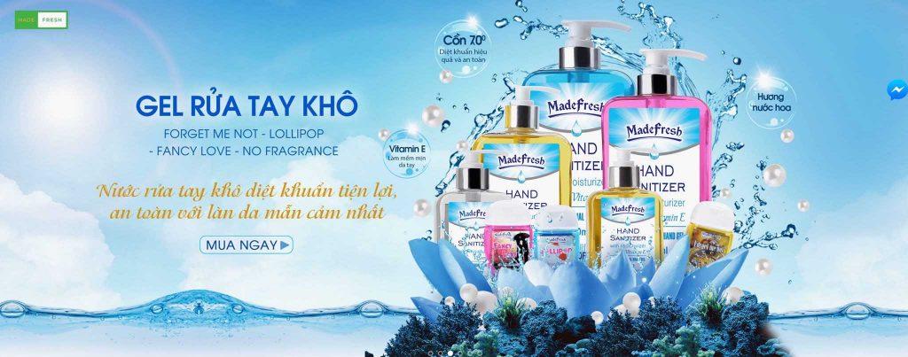 Bộ sản phẩm nước rửa tay khô diệt khuẩn madefresh