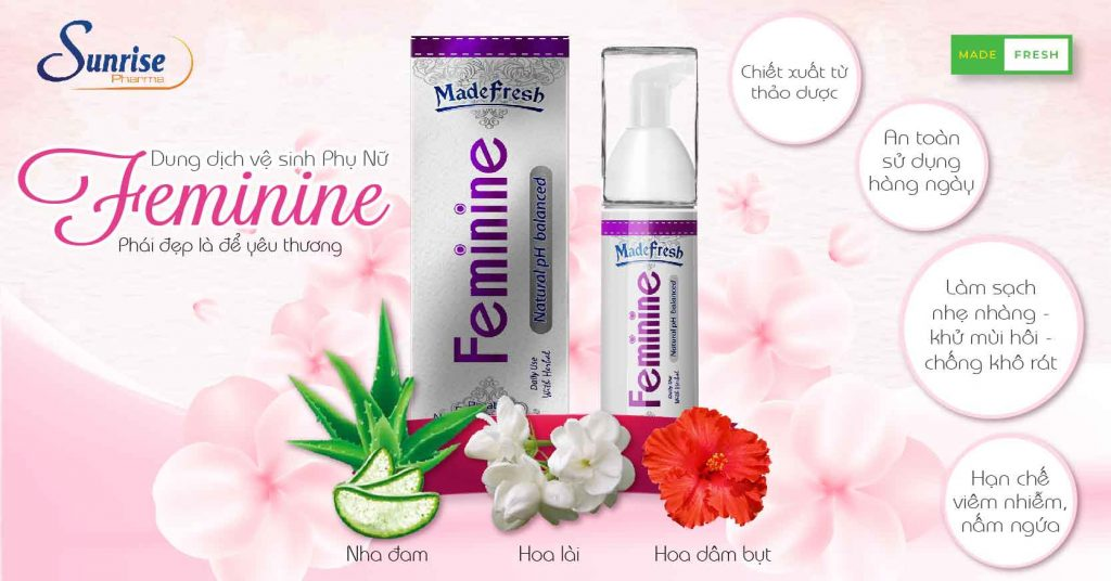 Dung dịch vệ sinh phụ khoa Madefresh feminine