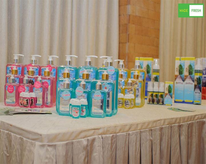 các sản phẩm gel rửa tay khô, nước rửa tay khô thương hiệu madefresh