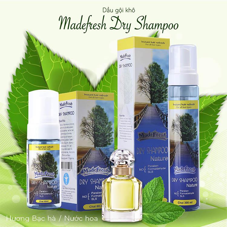 Dầu gội đầu khô Madefresh Dry Shampoo
