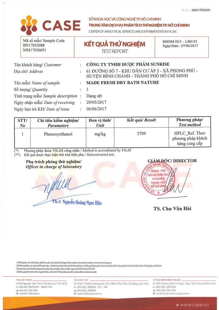 Madefresh đạt chứng nhận từ Bộ Khoa Học và Công Nghệ TP HCM