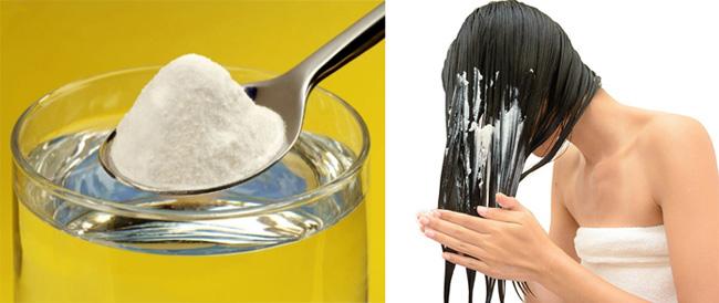 Baking soda điều trị tóc