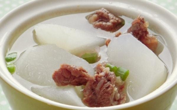 các món ăn từ củ cải trắng