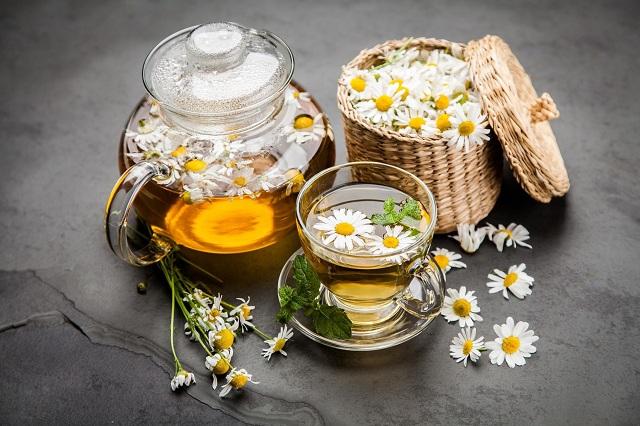 Trà hoa cúc trị bệnh gout