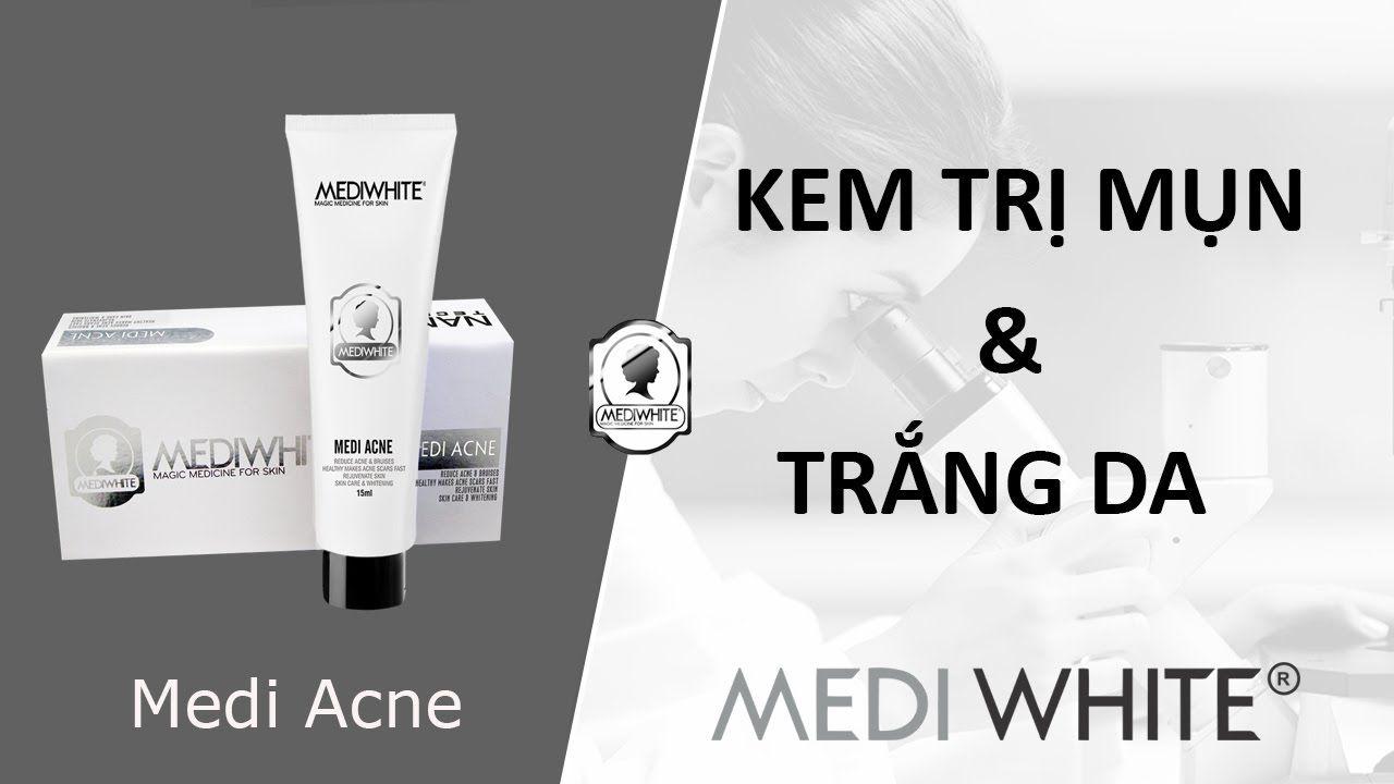 Sản phẩm kem trị mụn Medi White acne