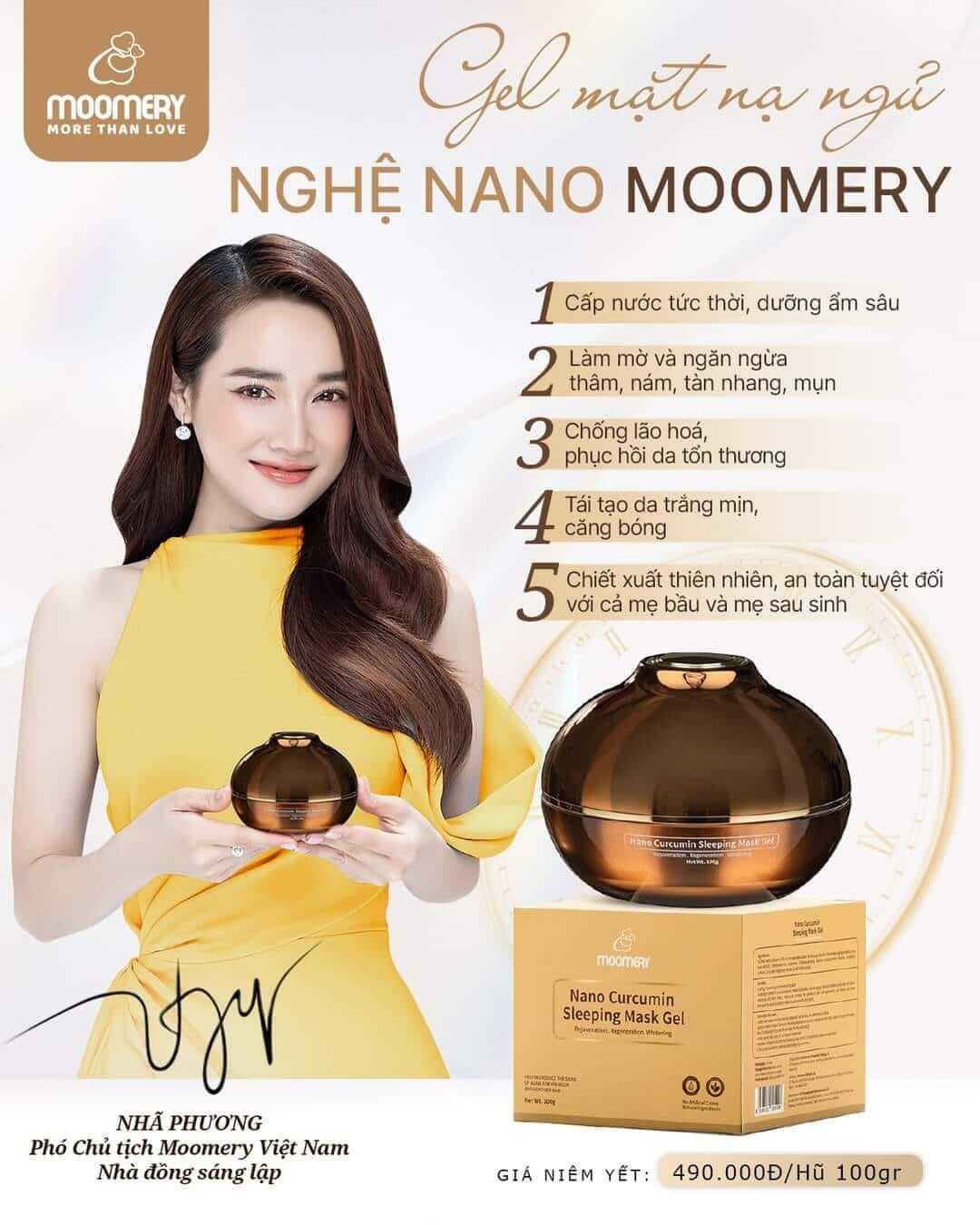 Công dụng gel mặt nạ ngủ nghệ Nano Moomery-madefresh.com.vn