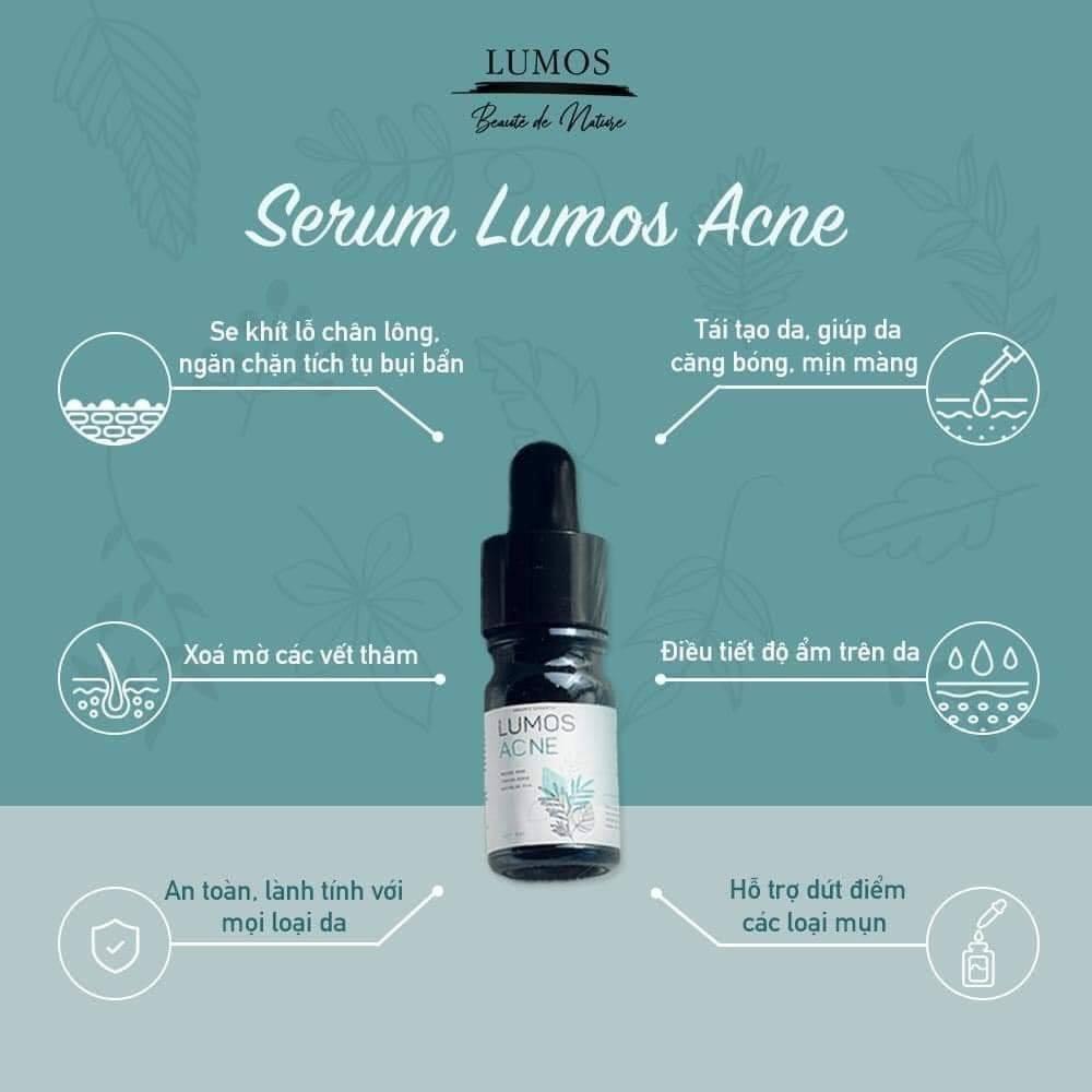 Hiệu quả trị mụn serum Lumos