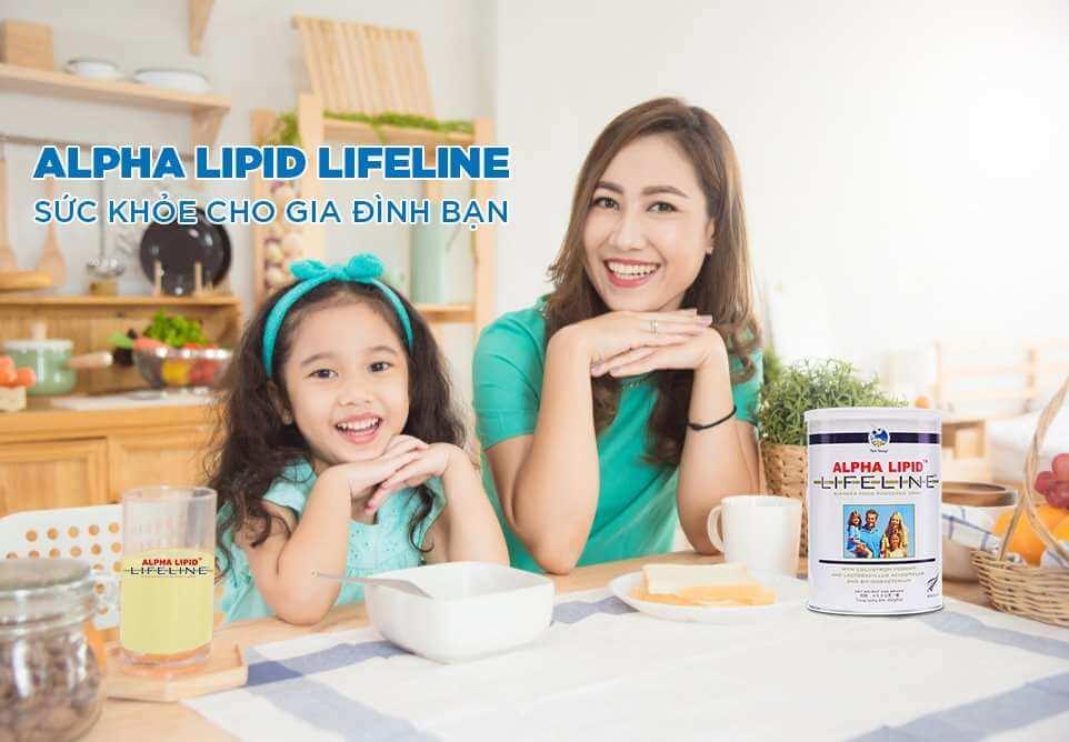Sữa non Alpha Lipid Lifeline sức khỏe cho gia đình bạn