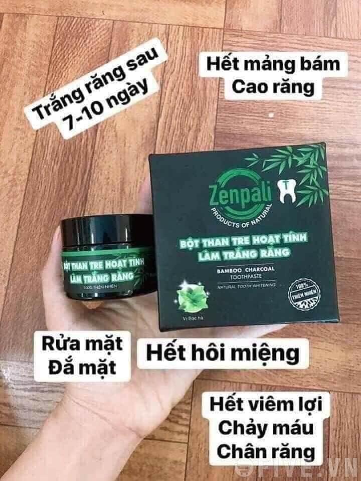 Bột than hoạt tính làm trắng răng Zenpali